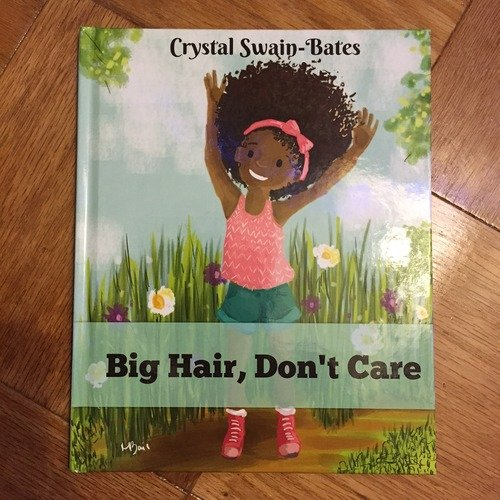 Young Black Girl Book Illustration Big Hair Don't Care